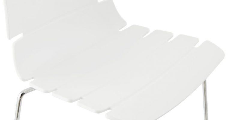 24Designs Barkruk Feline – Zithoogte 77 Cm – Kunststof Wit – Chroom | 8719874342674