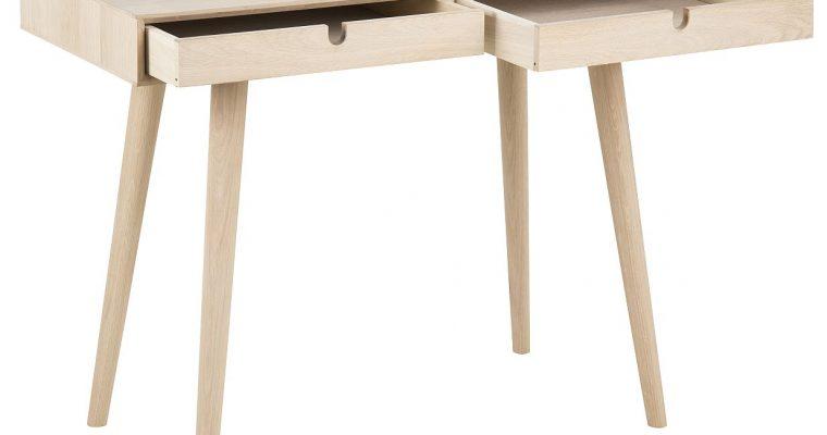 24Designs Bureau Amelie 2-Laden – 100x45x74 – Eikenhout White Wash | 8719874341240