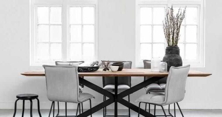 24Designs Curves Tafel – 260x100x78 – Tafelblad Recycled Teakhout – Zwart Design Onderstel   8720146544900