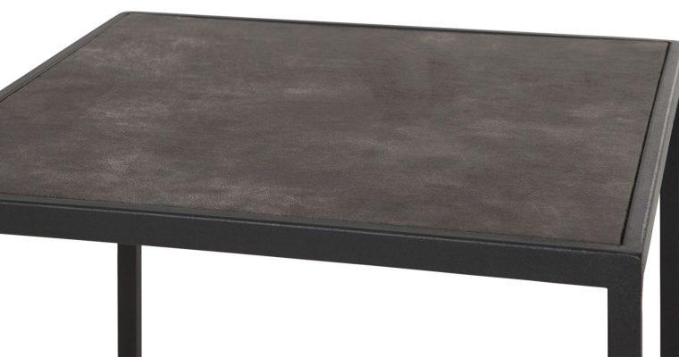 24Designs Harmony Dressoir – 150x35x90 – Gerecycled Leer – Zwart Metalen Frame | 8720146541220