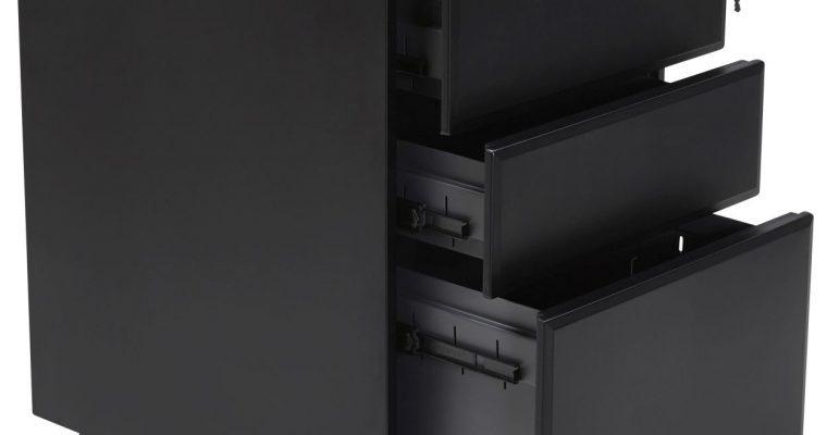 24Designs Ladeblok Clarke – 3 Laden – 40x52x61 – Metaal Zwart   8719874343558