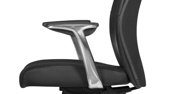 24Designs Livio Bureaustoel – Zwart Leer – Aluminium Kruispoot Met Wielen | 8720143245572