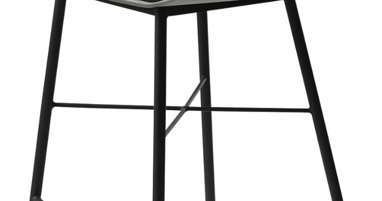 24Designs Mackay Barkruk – Set Van 2 – Grijs + Grijs Zitkussen – Zwart Onderstel | 8720143241253