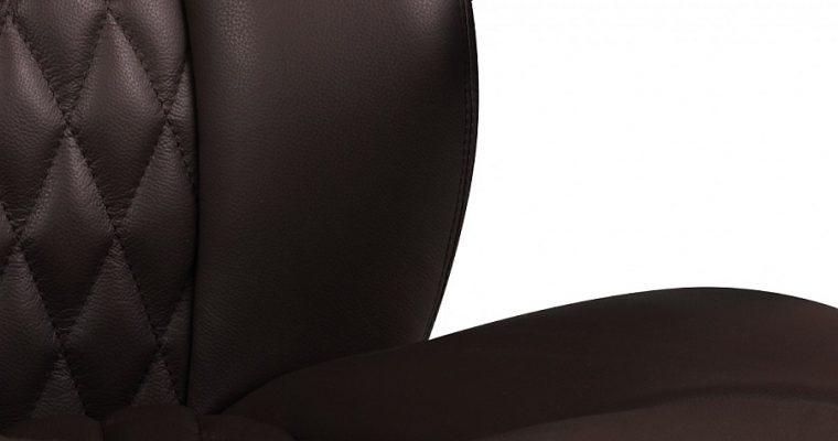 24Designs Santino Bureaustoel – Bruin Leer – Aluminium Kruispoot Met Wielen | 8720143245596