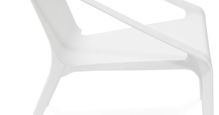 24Designs Tuinstoel Santini – Kunststof Wit | 8719874343770