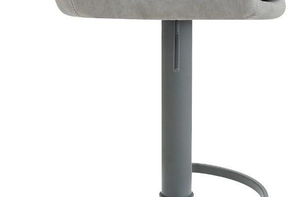 24Designs Verstelbare Barkruk Levi – Lichtgrijs Vintage Kunstleer – Grijs Onderstel | 8720143246982