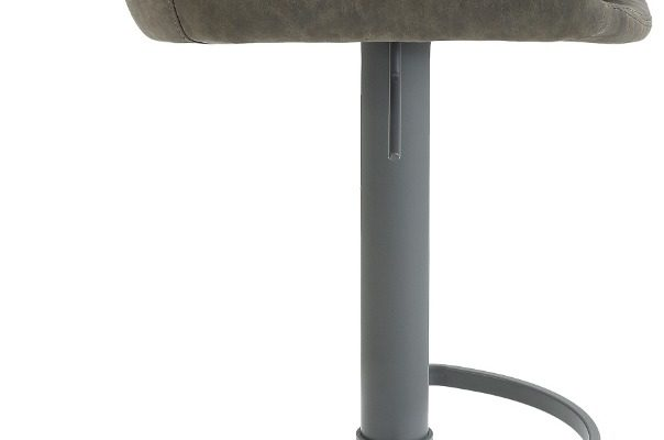 24Designs Verstelbare Barkruk Levi – Modderbruin Vintage Kunstleer – Grijs Onderstel | 8720143246944