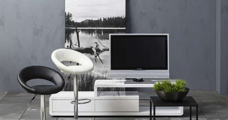 24Designs Verstelbare Barkruk Napoli – Set Van 2 – Kunstleer Wit – Chromen Onderstel | 8719172345735