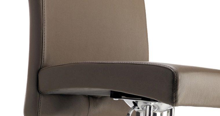 24Designs Verstelbare Barkruk Ray – Bruin Kunstleer – Chromen Onderstel | 8719172340129
