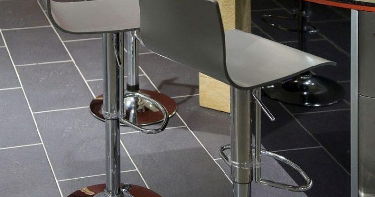 24Designs Verstelbare Barkruk Reno – Antracietgrijze Houten Zitting – Chromen Onderstel | 8718692429833