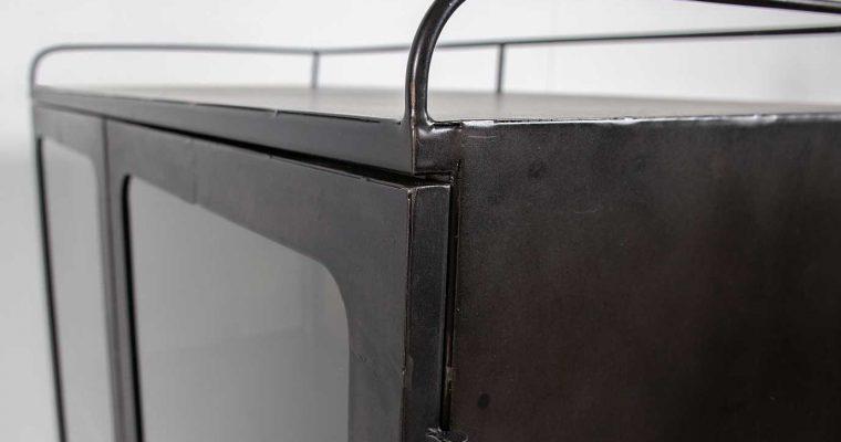 BePureHome Talent XL Metalen Kast Op Wielen – 81x41x123 – Antique Grey | 8714713093526