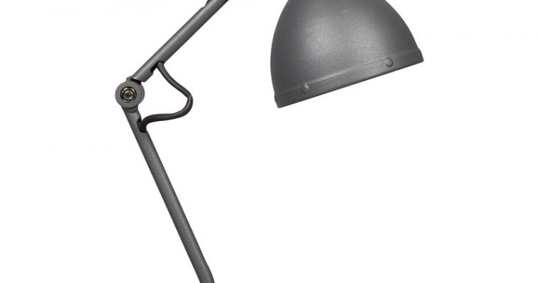 Bureaulamp Industrie Grijs