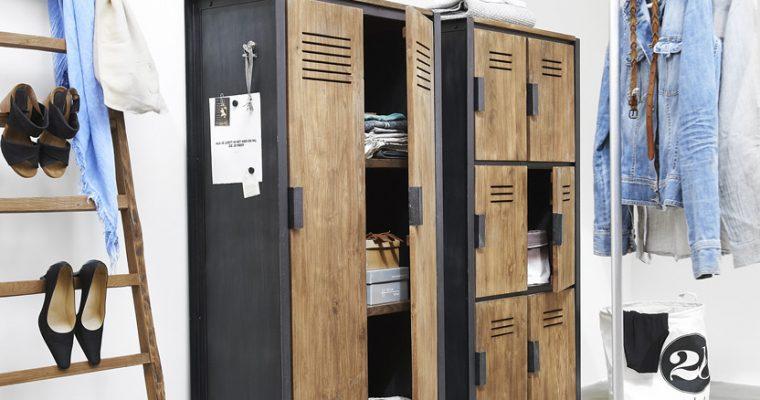 D-Bodhi Fendy Locker Kast – 2 Deurs – L80 X B40 X H160 Cm – Teakhout | 8720146538657