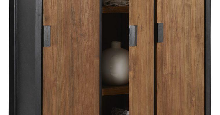 D-Bodhi Fendy Locker Kast – 3 Deurs – 120x40x160 – Teakhout | 8720146538664