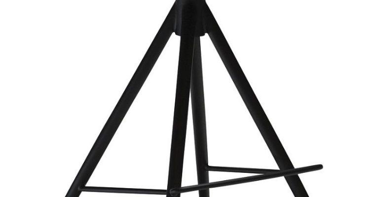 Dan-Form Gaia Barkruk Zithoogte 74.5 Cm – Set Van 2 – Zwart Kunstleer – Zwart Onderstel | 5710172069501