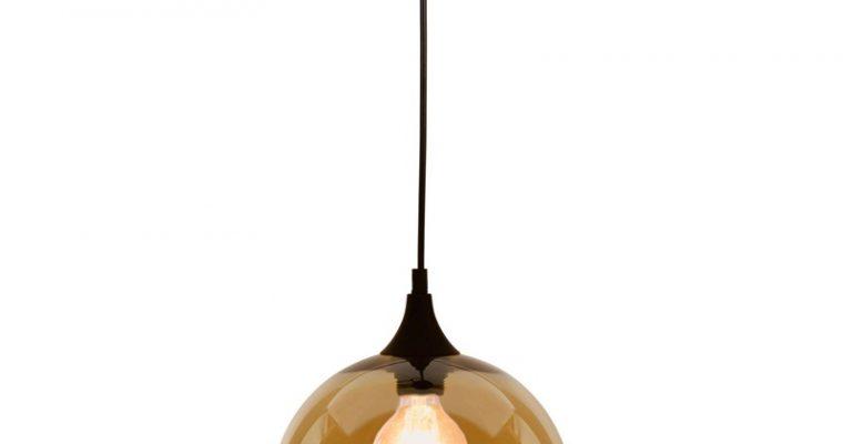 Hanglamp Glas Bol Goud