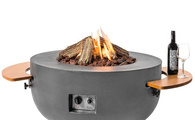Happy Cocooning Vuurtafel Bowl Rond -Ø91 Cm – Antraciet + Gasdrukregelaar | 8718734664918