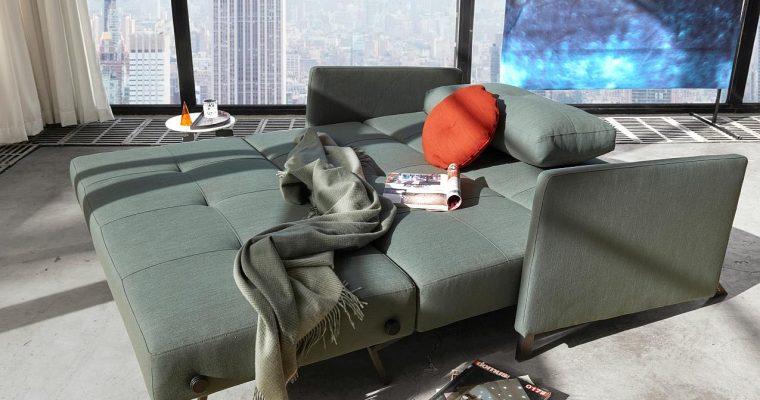 Innovation Slaapbank Cubed 160 Armleuningen – Elegance Green 518 | 8720143240157