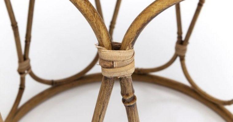 Kare Design Bamboo Loop Bijzettafel Set Van 2 – Spiegelglas – Bamboolook Onderstel | 4025621809425