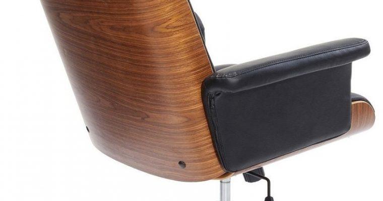 Kare Design Check Out Bureaustoel – Kunstleer Zwart – Zwart Metalen Kruispoot | 4025621839590