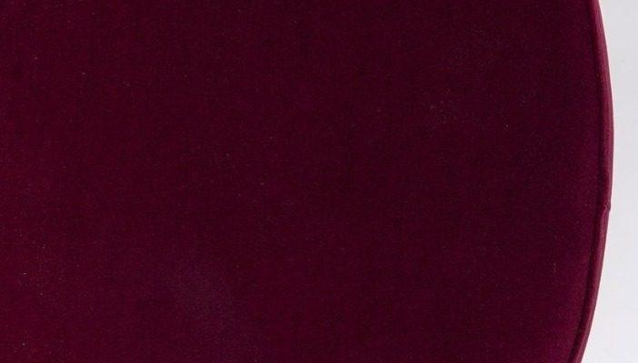 Kare Design Cherry Poef -Ø55×35 – Bordeaux Fluweel – Messing | 4025621842026