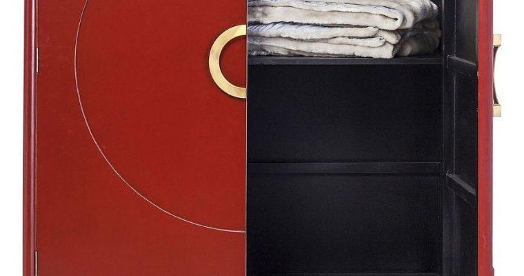 Kare Design Disk Red Kledingkast – 120x55x180 – Rood | 4025621841036
