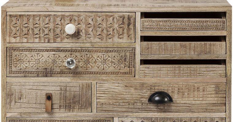 Kare Design Ladekast Puro 9 Laden – 80x35x65 – Mangohout   4025621813439