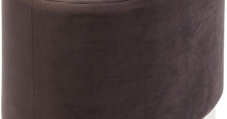 Kare Design Poef Cherry Eclipse – 60x40x40 – Bruin Fluweel – Messing | 4025621831266