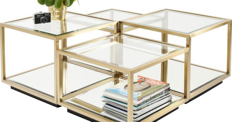 Kare Design – Salontafel Luigi – Set Van 4 Kubussen – Goud | 4025621831044
