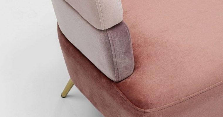 Kare Design Sandwich Bank – 125x64x64 – Velvet Roze – Gouden Poten |