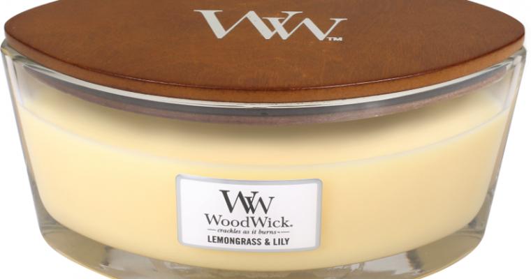 Woodwick Lemongrass & Lily Hearthwick Ellipse Candle   302006   Woodwick