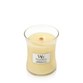 Woodwick Lemongrass & Lily Medium Candle | 302004 | Woodwick