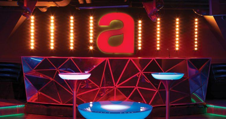 Moree – Ronde Statafel – Bartafel Lounge M – Hoogte 105 Cm LED PRO ACCU – Wit   4260218361607