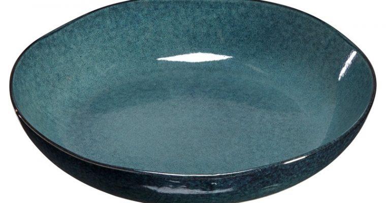 Pastabord Glaze Blauw