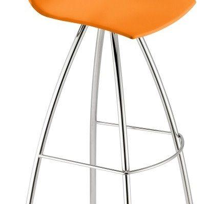 SCAB Day Barkruk – Set Van 4 – Zithoogte 65 Cm – Oranje – Chromen Onderstel | 8005733230627