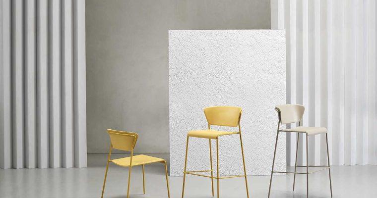 SCAB Lisa Barkruk – Set Van 2 – Zithoogte 75 Cm – Kunststof Mosterd |