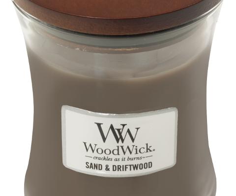 Woodwick Sand & Driftwood Medium Candle | 303104 | Woodwick
