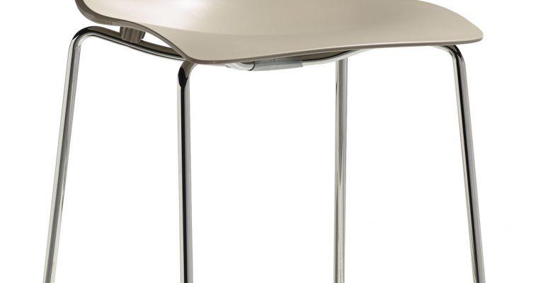 Set 2 SCAB Barkrukken Zebra Tech 65 – Zand – Chromen Onderstel | 8005733256634