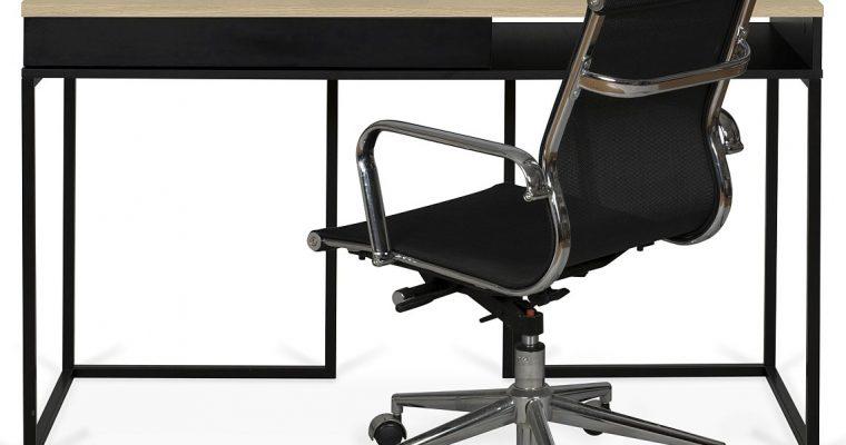 TemaHome City Bureau 1-Lade – 130x50x78 – Eiken/Zwart – Zwart Metalen Onderstel | 5603449053955