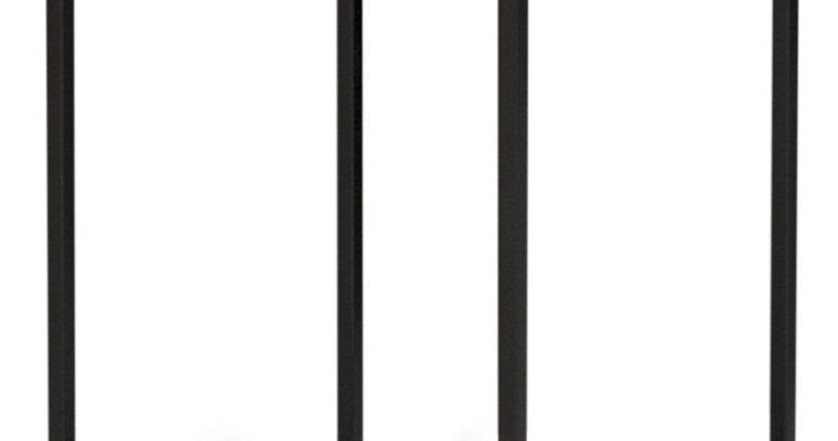 TemaHome Forrest Bijzettafel – 30x30x50 – Zwart/Wit Marmer – Zwart Metaal | 5603449628641