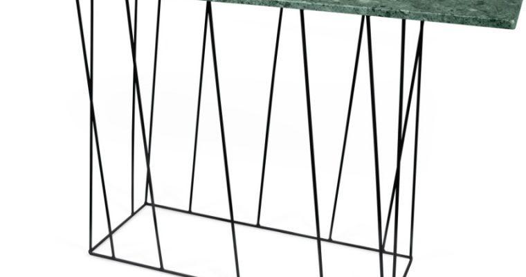 TemaHome Helix Sidetable Zwart – 120x40x76 – Groen Marmer | 5603449627484