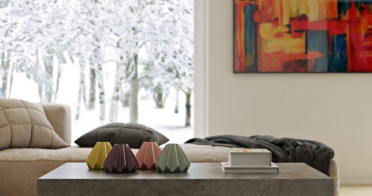 TemaHome Salontafel Petra – 120x75x38 – Grijs beton Look Tafelblad – Zwart Onderstel | 5603449629365