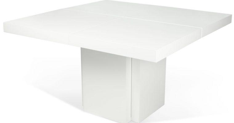 TemaHome Vierkante Tafel Dusk 150 – Hoogglans Wit   5603449612619