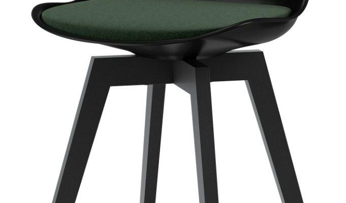 Tenzo Gina Barkruk – Set Van 2 – Zithoogte 65 Cm – Zwart/Groen – Zwarte Houten Poten | 8720143244896