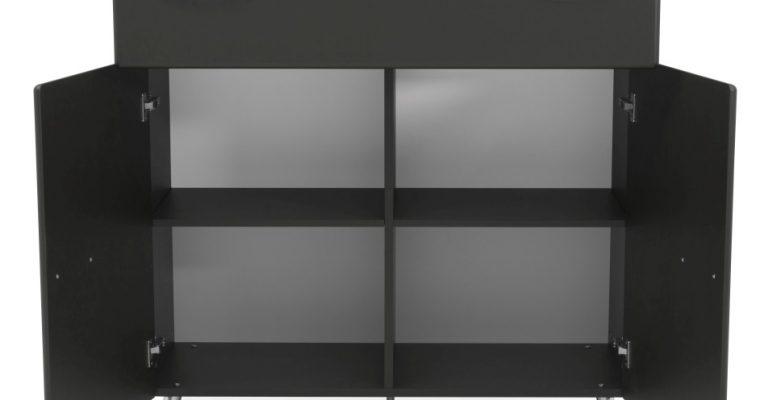 Tenzo Nova Ladekast 2-Deurs/1-Lade – 109x43x112 – Mat Antraciet Grijs | 8720143246364