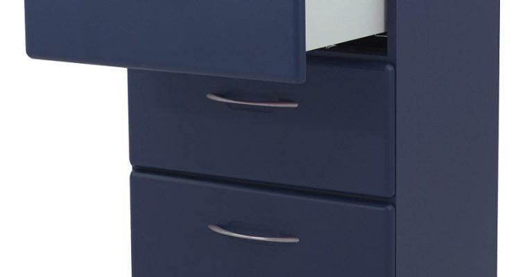 Tenzo Nova Ladekast 3-Laden – 60x43x86.5 – Mat Blauw | 8720143246449