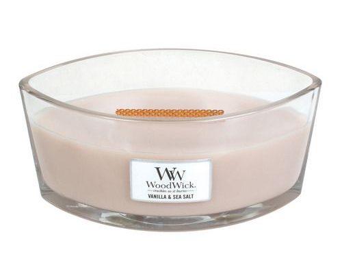 Woodwick Vanilla & Sea Salt Hearthwick Ellipse Candle | 76191E | Woodwick