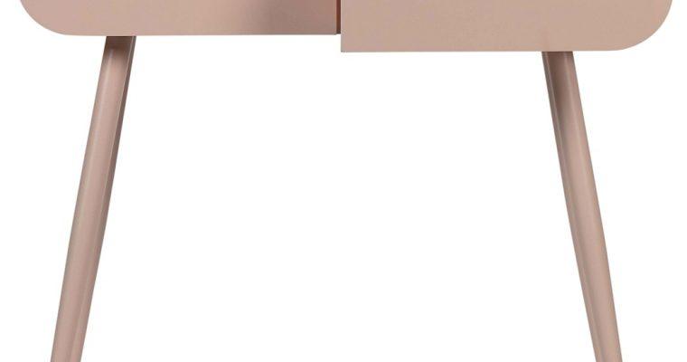 WOOOD Flo Sidetable 2-Lades – 90x35x79 – Zachtroze | 8714713091799