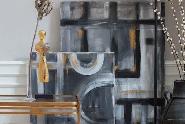WOOOD Kylie Bijzettafel – 60x36x51 – Antique Brass Metaal En Glas | 8714713092161