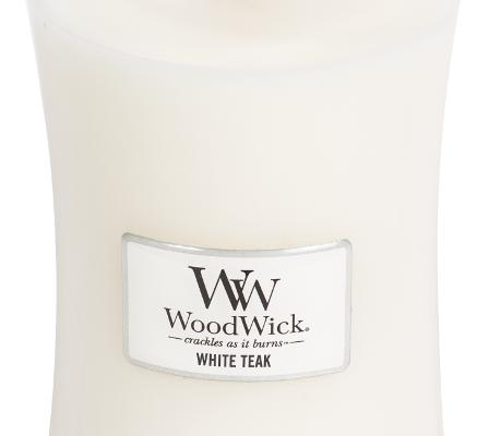 Woodwick White Teak kaars groot   93039E   Woodwick